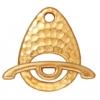 Toggle Ellipse Set Hammered Gold